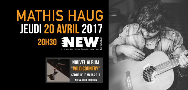 Mathis Haug en concert au New Morning le 20 avril 2017